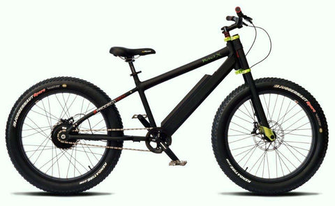 Image of Prodecotech Rebel X V5 Suspension Electric Mountain Bike facing right side profile matte black