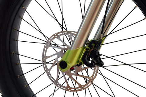 image of Prodecotech Image of Prodecotech Rebel X V5 Suspension Electric Mountain Bike front wheel