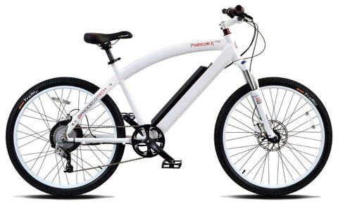 image of Prodecotech Phantom X RS Electric Mountain Bike color polar white gloss side profile facing right