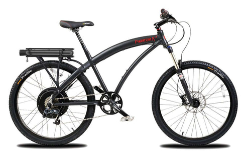 image of Prodecotech Phantom X3 V5 Electric Mountain Bike matte black facing right