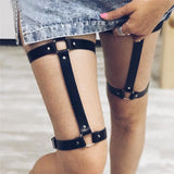 Leather Leg Harness (Model 2)