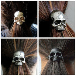 Skull Hair Ties ( 1 Pack of 4 ) / Free shipping