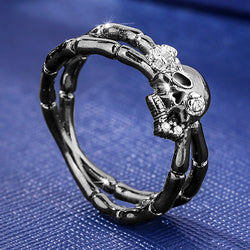 BLACK EVIL SKELETON RING