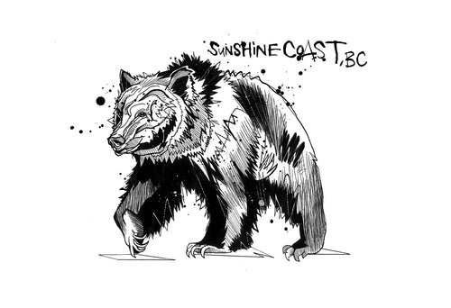 Ben Tour Sunshine Coast Bear Print