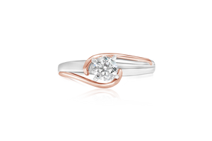 0.53-CT Two-Tone Diamond Fashion Ring
