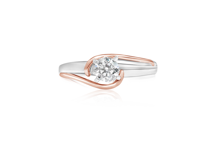 0.53-CT Two-Tone Diamond Ring