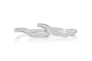 1.33-CTTW 3-Band Bridal Set