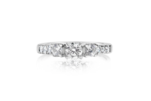 3-Stone Euro Shank Diamond Engagement Ring