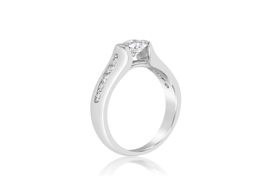 Semi-Bezel Diamond Ring