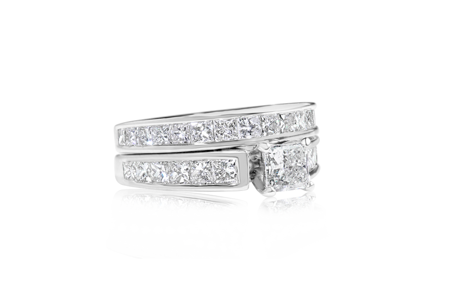 1.80-CTTW Princess Diamond Bridal Set