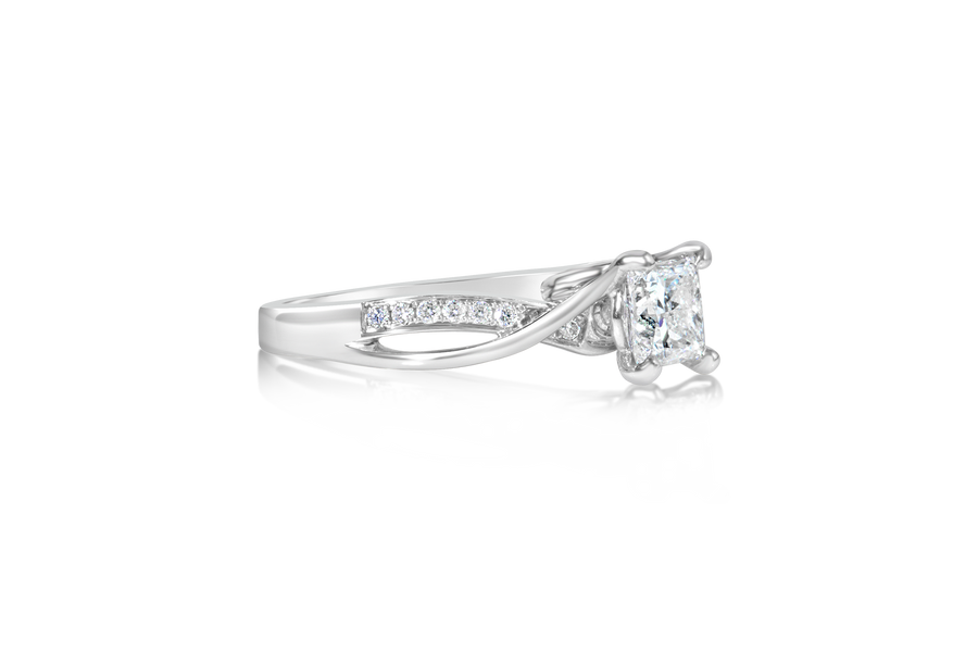 Frederic Sage Princess Diamond Engagement Ring