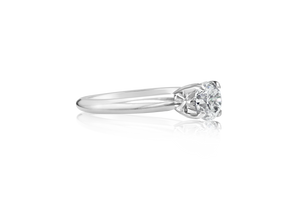 .63-CT Round Brilliant Diamond Solitaire Engagement Ring