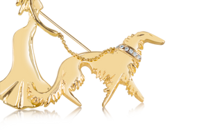 """Dog Walking"" pin"