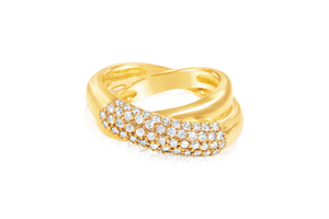 Crossover Pavé Fashion Ring