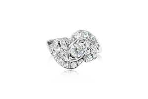 Euro-Cut Diamond Ring