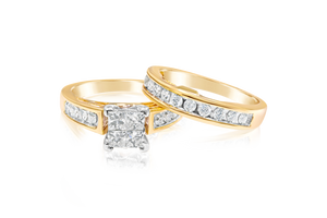 1.33-CTTW Diamond Bridal Set