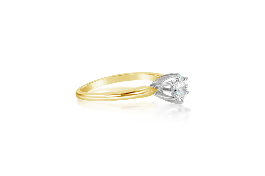 .33CT Round Brilliant Solitaire Diamond Ring