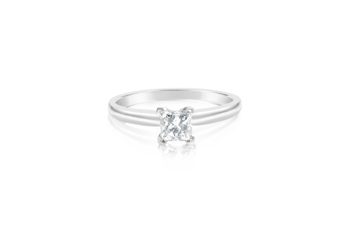 .58CT Princess Diamond Solitaire