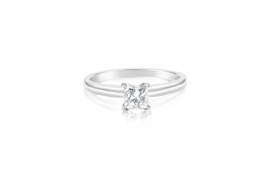 .58CT Princess Diamond Engagement Ring
