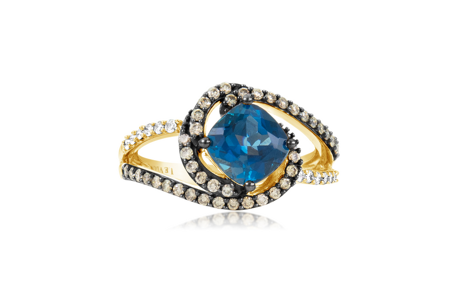 LeVian Blue Topaz Fashion Ring