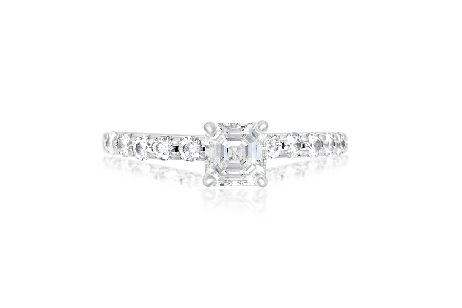 Ascher Cut Diamond Engagement Ring