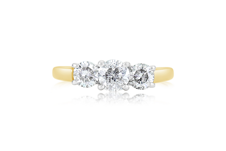 3-Stone Round Brilliant Engagement Ring