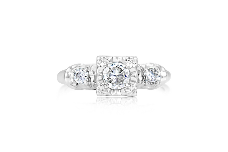 0.50-CT 3-Stone Diamond Engagement Ring