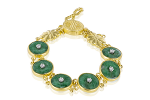 Jade and Melee Diamond Bracelet