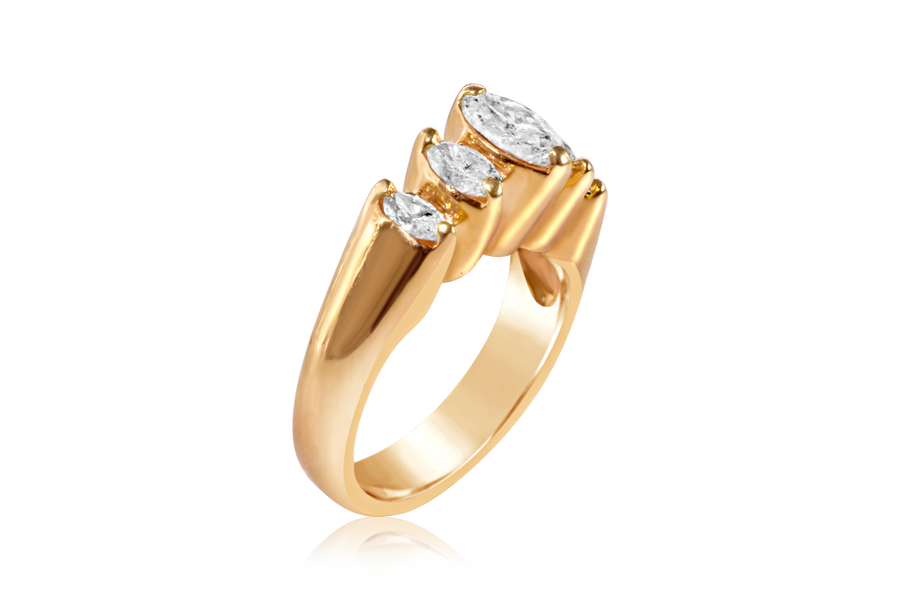 Graduated Marquise Diamond Ring