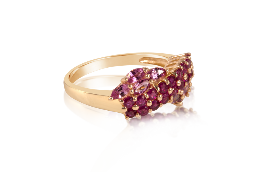 Pink Ruby and Sapphire Fashion Band