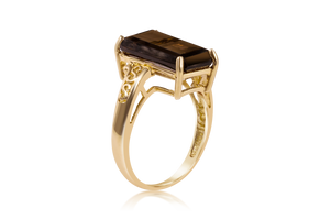 Smoky Quartz in Filigree Fashion Ring