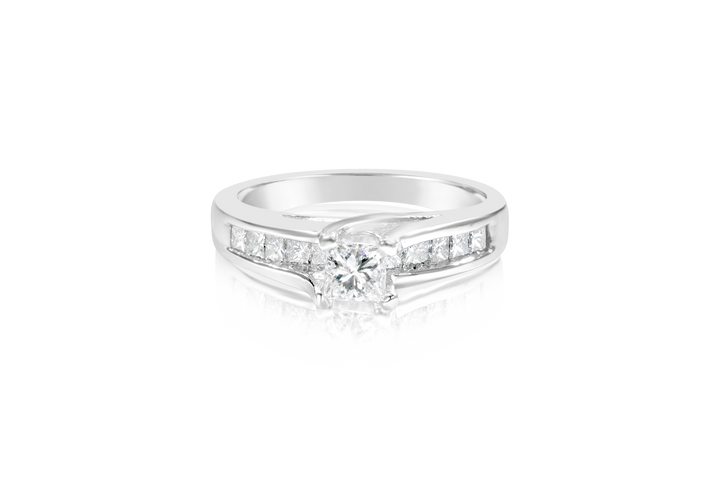 Princess Diamond Platinum Engagement Ring