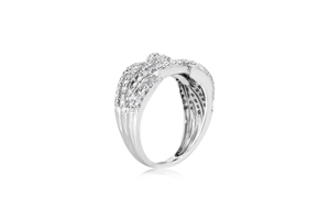 APX. 0.375-CTTW Crisscross Fashion Ring