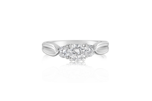 3-Stone Platinum Engagement Ring