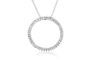 Melee Diamond Circle Pendant
