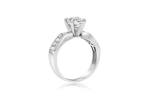 Cushion Cut Princess Diamond Engagement Ring