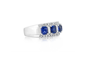 Diamond and Sapphire Fashion Ring