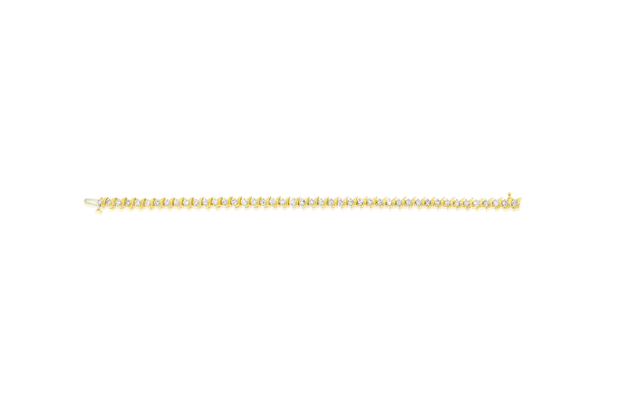 "7.5"" Round Diamond Tennis Bracelet"