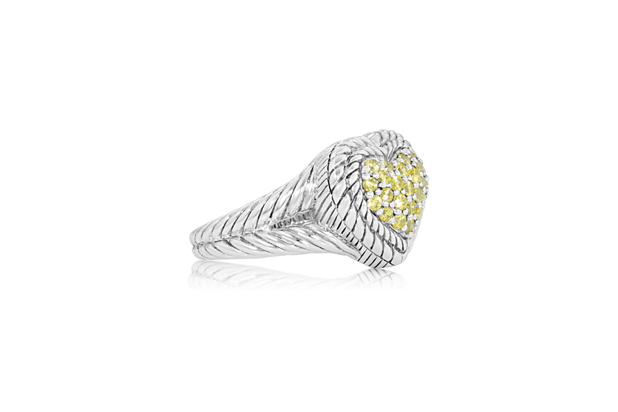 "Judith Ripka ""Heart"" Ring"