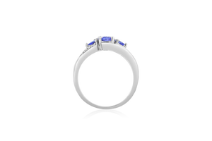 Tanzanite Bypass Fashion Ring