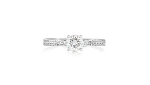 0.73-Carat Round Brilliant Diamond Engagement Ring