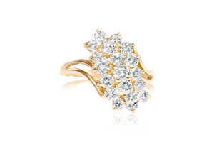 Diamond Cluster Cocktail Ring
