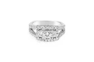 A. JAFFE 3-Stone Diamond Ring
