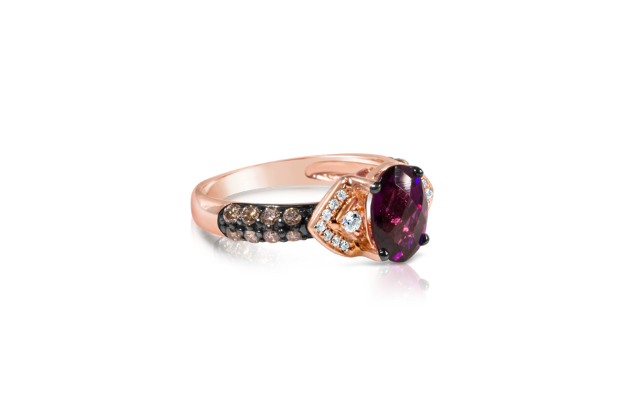Le Vian Rhodolite Garnet Rose Gold Ring