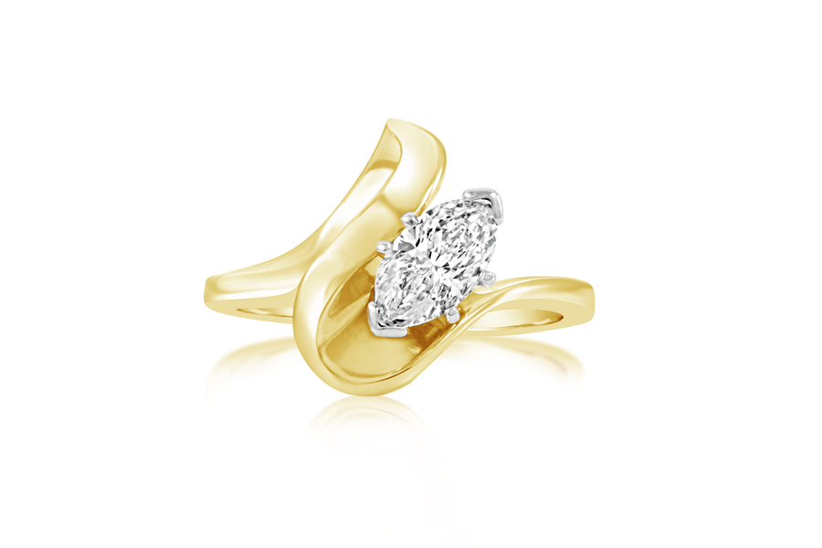 Marquise Diamond Solitaire Ring
