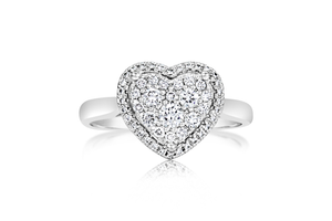 "Pavé ""Heart"" Diamond Fashion Ring"