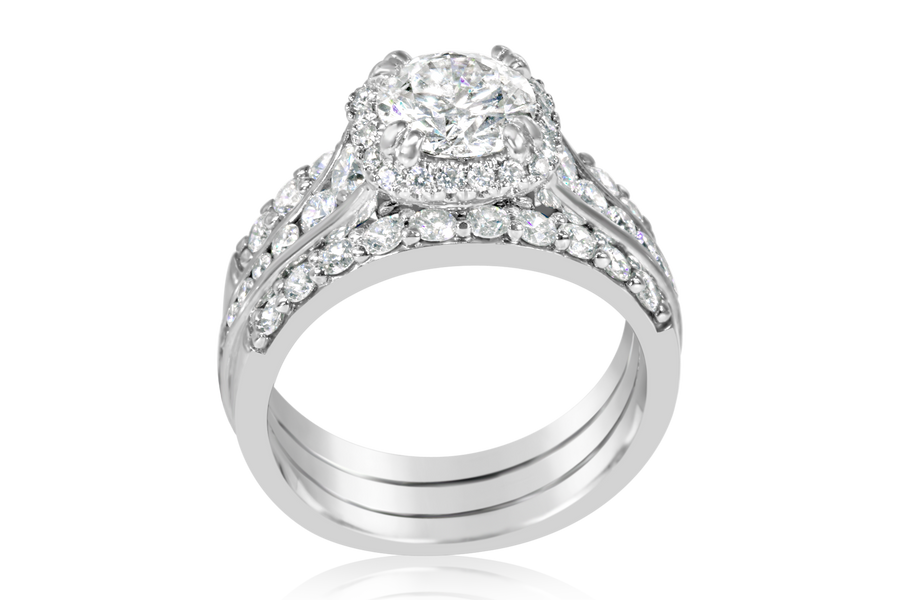 Amavida 3-ring Designer bridal set