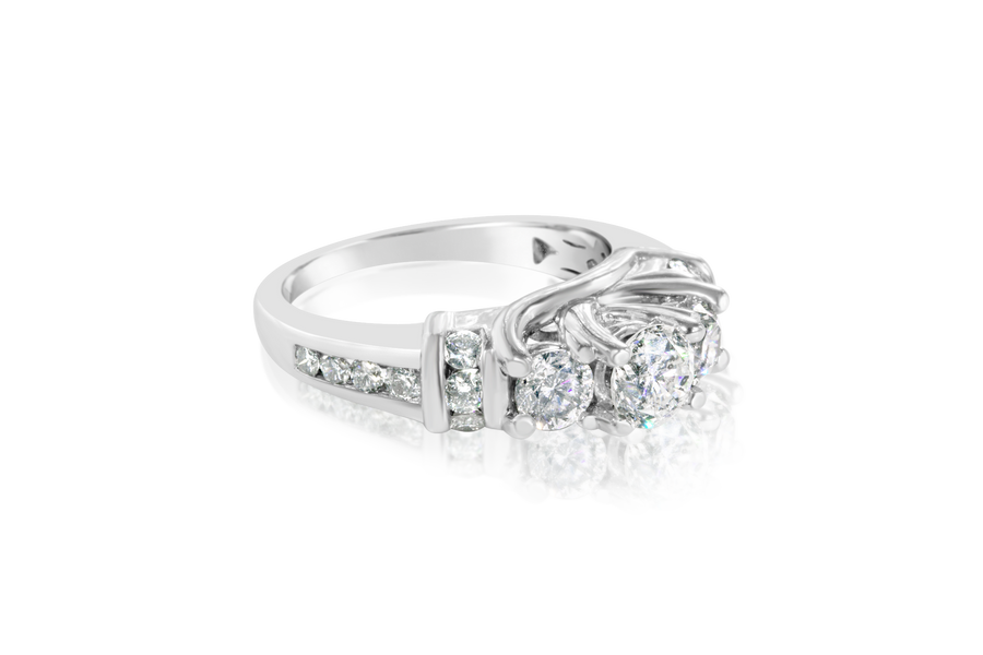 1.10CTTW 3-Stone Diamond Ring