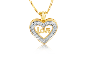 """Love"" Diamond Pendant"