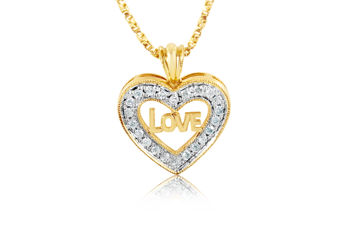 ".44 cttw ""Love"" Diamond Pendant"